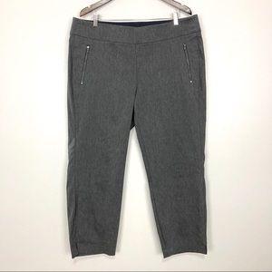 Lane Bryant Allie Skinny Pant Crop Zip Pocket Gray
